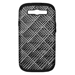 Grid Wire Mesh Stainless Rods Rods Raster Samsung Galaxy S Iii Hardshell Case (pc+silicone)