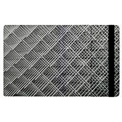 Grid Wire Mesh Stainless Rods Rods Raster Apple Ipad 3/4 Flip Case