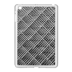 Grid Wire Mesh Stainless Rods Rods Raster Apple Ipad Mini Case (white)