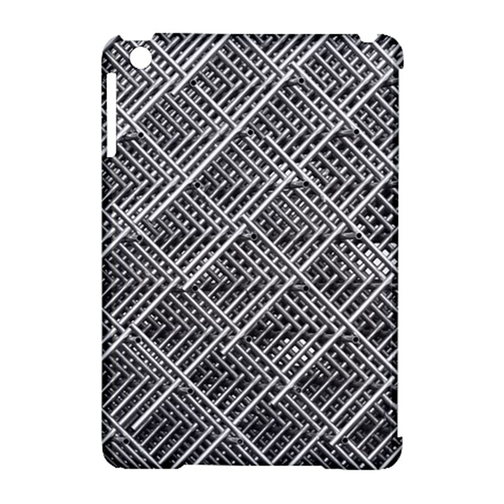 Grid Wire Mesh Stainless Rods Rods Raster Apple iPad Mini Hardshell Case (Compatible with Smart Cover)