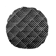 Grid Wire Mesh Stainless Rods Rods Raster Standard 15  Premium Round Cushions