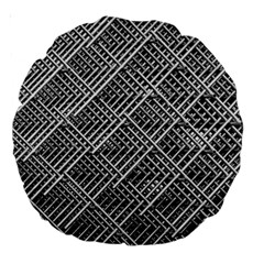 Grid Wire Mesh Stainless Rods Rods Raster Large 18  Premium Round Cushions