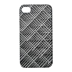 Grid Wire Mesh Stainless Rods Rods Raster Apple Iphone 4/4s Hardshell Case With Stand