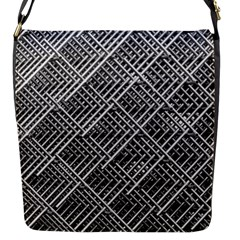 Grid Wire Mesh Stainless Rods Rods Raster Flap Messenger Bag (s)