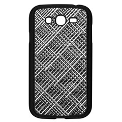Grid Wire Mesh Stainless Rods Rods Raster Samsung Galaxy Grand Duos I9082 Case (black)