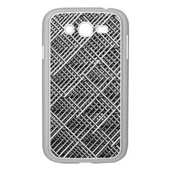 Grid Wire Mesh Stainless Rods Rods Raster Samsung Galaxy Grand Duos I9082 Case (white)