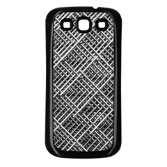 Grid Wire Mesh Stainless Rods Rods Raster Samsung Galaxy S3 Back Case (black)