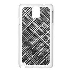 Grid Wire Mesh Stainless Rods Rods Raster Samsung Galaxy Note 3 N9005 Case (white)