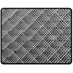 Grid Wire Mesh Stainless Rods Rods Raster Double Sided Fleece Blanket (medium)