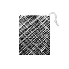 Grid Wire Mesh Stainless Rods Rods Raster Drawstring Pouches (small)