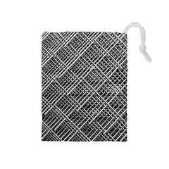 Grid Wire Mesh Stainless Rods Rods Raster Drawstring Pouches (medium)