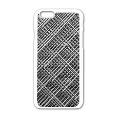 Grid Wire Mesh Stainless Rods Rods Raster Apple Iphone 6/6s White Enamel Case