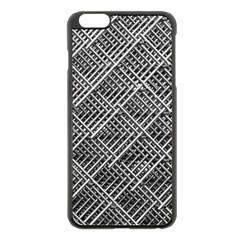 Grid Wire Mesh Stainless Rods Rods Raster Apple Iphone 6 Plus/6s Plus Black Enamel Case