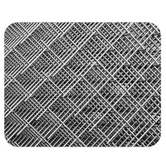 Grid Wire Mesh Stainless Rods Rods Raster Double Sided Flano Blanket (medium)