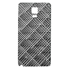 Grid Wire Mesh Stainless Rods Rods Raster Galaxy Note 4 Back Case