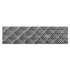 Grid Wire Mesh Stainless Rods Rods Raster Satin Scarf (oblong)