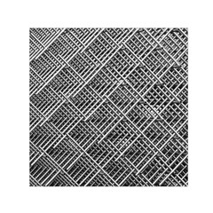 Grid Wire Mesh Stainless Rods Rods Raster Small Satin Scarf (square)