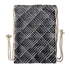 Grid Wire Mesh Stainless Rods Rods Raster Drawstring Bag (large)