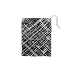 Grid Wire Mesh Stainless Rods Rods Raster Drawstring Pouches (xs)
