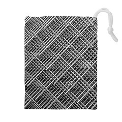 Grid Wire Mesh Stainless Rods Rods Raster Drawstring Pouches (extra Large)