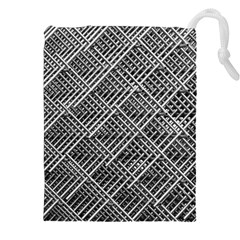 Grid Wire Mesh Stainless Rods Rods Raster Drawstring Pouches (xxl)