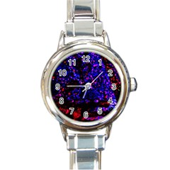 Grunge Abstract Round Italian Charm Watch