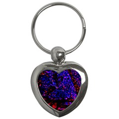 Grunge Abstract Key Chains (Heart)