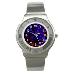 Grunge Abstract Stainless Steel Watch
