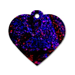 Grunge Abstract Dog Tag Heart (two Sides)