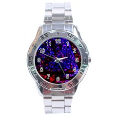 Grunge Abstract Stainless Steel Analogue Watch