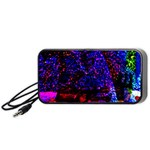 Grunge Abstract Portable Speaker (Black) Front