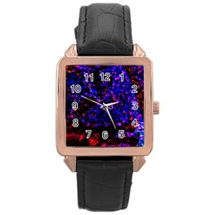 Grunge Abstract Rose Gold Leather Watch