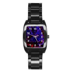 Grunge Abstract Stainless Steel Barrel Watch