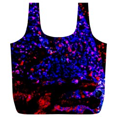 Grunge Abstract Full Print Recycle Bags (l)