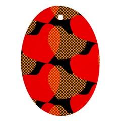 Heart Pattern Ornament (Oval)