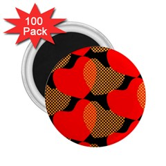 Heart Pattern 2 25  Magnets (100 Pack)