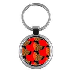 Heart Pattern Key Chains (round)