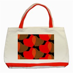 Heart Pattern Classic Tote Bag (red)