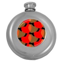Heart Pattern Round Hip Flask (5 Oz)
