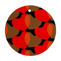 Heart Pattern Round Ornament (Two Sides)