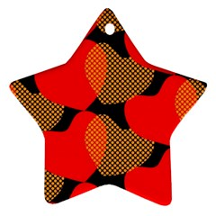 Heart Pattern Star Ornament (two Sides)