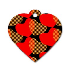 Heart Pattern Dog Tag Heart (one Side)