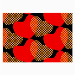 Heart Pattern Large Glasses Cloth