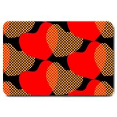 Heart Pattern Large Doormat