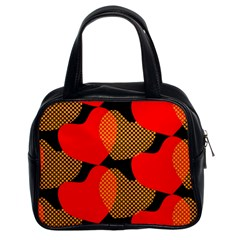 Heart Pattern Classic Handbags (2 Sides)