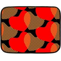 Heart Pattern Double Sided Fleece Blanket (mini)
