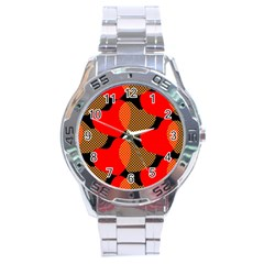 Heart Pattern Stainless Steel Analogue Watch