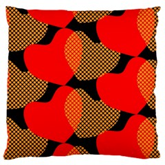 Heart Pattern Large Cushion Case (two Sides)