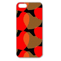 Heart Pattern Apple Seamless iPhone 5 Case (Clear)