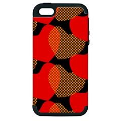 Heart Pattern Apple Iphone 5 Hardshell Case (pc+silicone)